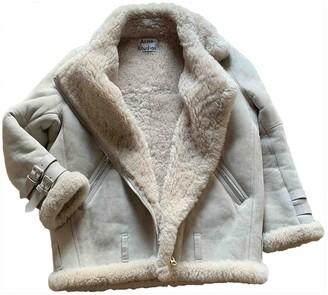 Acne Studios Beige Shearling Jacket for Women