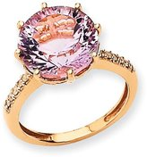 goldia 14k Rose Gold Quartz And Natural Diamond Ring