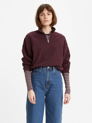 Levi's Pom Quarter-Zip Sweatshirt