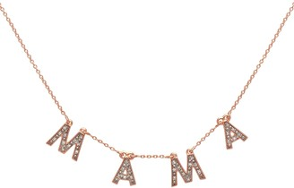 Lola Rose London Mama Diamond Charm Necklace Rose Gold