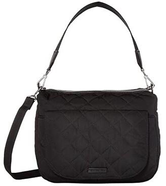 Vera Bradley Carson Performance Twill Shoulder Bag (Black 1) Shoulder Handbags