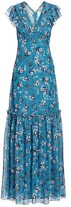 Erdem Franceline Daffodil Bouquet Silk Voile Maxi Dress