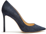 Jimmy Choo Romy 100mm denim pumps