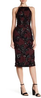 Dress the Population Ashley Sequin Lace Sheath Dress