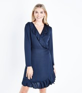 New Look Mela Wrap Front Long Sleeve Dress