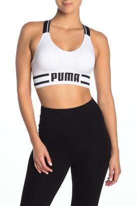 Puma Logo Banded Sports Bra