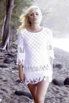 Nightcap Clothing Tribal Fringe Tunic in White