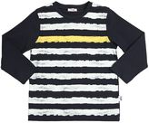 Il Gufo Striped Print Cotton Jersey T-Shirt