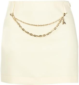 Patrizia Pepe chain-link detail A-line skirt