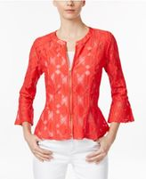 INC International Concepts Lace Peplum Jacket, Only at Macy's