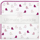 Swaddle Designs Ultimate Swaddle Blanket, Premium Cotton Flannel, Jewel Tone Little Chickies, Very Berry