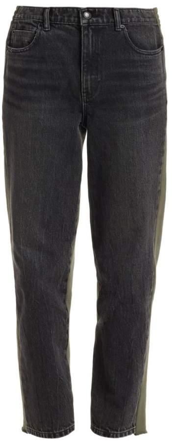 Alexander Wang Sweatpant & Denim Combo Pants