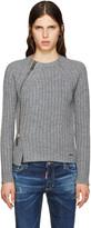 DSQUARED2 Grey Zip Sweater