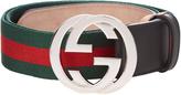 Gucci GG-buckle canvas belt