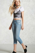 Forever 21 Mid-Rise Cropped Jeans