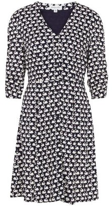 Emily And Fin Felicity Navy Swans Dress - 8