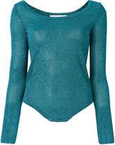 A.F.Vandevorst scoop neck glitter T-shirt