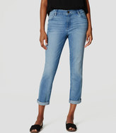 LOFT Skinny Crop Jeans in Light Enzyme Wash