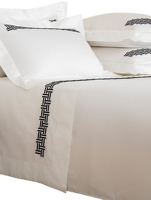Frette Basketweave Embroidery 4-Piece 295 Thread Count Sheet Set