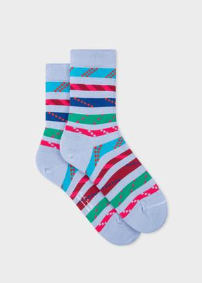 Paul Smith Women's Lilac 'Rope Stripe' Socks