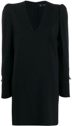 Versace Medusa safety pin shift dress