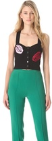 Sonia Rykiel Embroidered Bustier in Satin Crepe