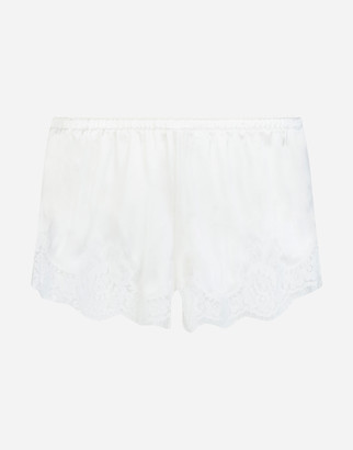Dolce & Gabbana Shorts In Satin With Lace