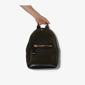 Tom Ford green Berkley suede backpack