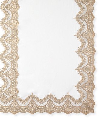 "Sferra Antique Lace 72"" x 144"" Tablecloth & 12 Napkins"