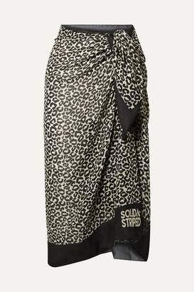 Solid & Striped Leopard-print Voile Pareo - Leopard print