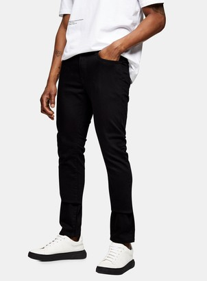 Topman Stay Black Stretch Slim Jeans