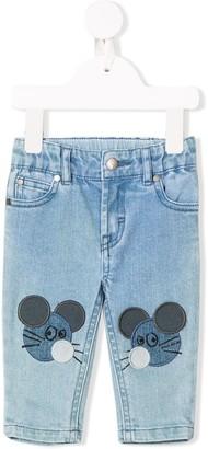 Stella Mccartney Kids Mouse Patch Jeans