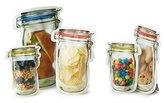 Kikkerland Reusable Hinged Jar Zipper Bags - Set of 9