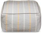 Brooklyn & Bond Herringbone Cotton Pouf - Gray (24x24x13)