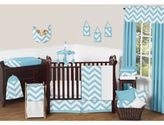 JoJo Designs Sweet Chevron 11-Piece Crib Bedding Set in Turquoise and White