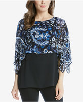 Karen Kane Printed Double-Layer Top