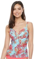 Croft & Barrow Women's Bust Enhancer Twist-Front Tankini Top
