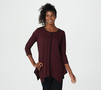 Truth + Style Regular Jacquard Knit Scoop-Neck Tunic