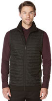 Perry Ellis Horizontal Stripe Quilted Zip Vest
