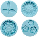 Martha Stewart Crafter's Clay Silicon Molds 4/pkg-flowers And Leaf