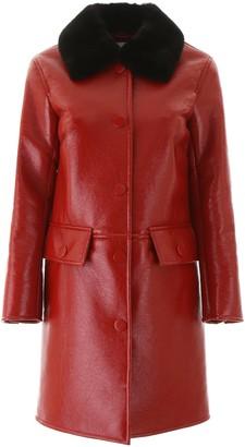 Stand Studio Faux Fur-Trim Coat
