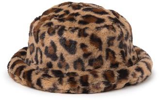 Steve Madden Leopard Print Faux Fur Bucket Hat