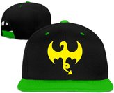 Fitalldoit-Caps Unisex Iron Fist Dragon Logo flat bill stretch cap