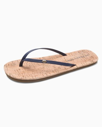Southern Tide Womens Promenade Cork Flip Flop - Nautical Navy