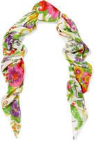 Balenciaga Grand Floral-print Modal And Silk-blend Scarf