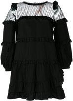 No.21 sheer ruffled shift dress - women - Cotton/Polyester - 38