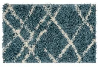 Blue Area Union Rustic Modern Stripe Shag Rug Union Rustic