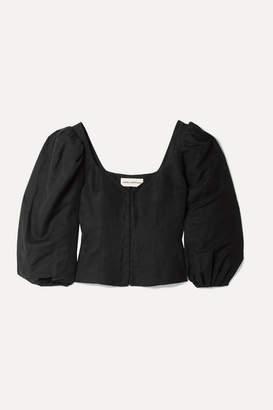 Mara Hoffman Eliana Tencel And Linen-blend Blouse - Black