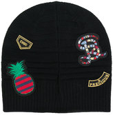 Sonia Rykiel patch appliqué beanie