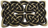 Things2Die4 Antiqued Brass Finish Celtic Knot Belt Buckle Endless